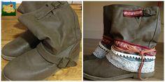 ¿Tenéis unas botas viejitas que ya no os ponéis? Yo he tuneado unas mías y estoy encantada con el resultado. diy layer boots