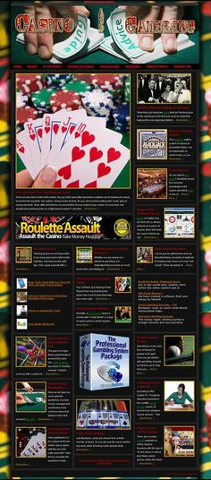 Casino and Gambling ready-made website for sale!   With an exceptional content of over 200 articles, the site is organized in chapters pretty much like a book. As you can see from the menus most topics have been covered - in three categories: 1-Basics (understanding the odds, money management, winning strategies, mistakes, online gambling and even IRS and taxes). 2-Tables games (poker, blackjack, craps, roulette, baccarat). 3-Other games (slots, video poker, sports betting, bingo, keno)…