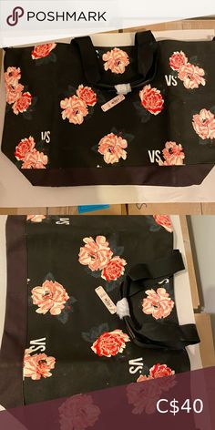 """NWT Victoria's Secret canvass over night bag NWT Victoria's Secret canvass overnight bag. 22.5"""" long. With removable long strap. Victoria's Secret Bags Travel Bags"""