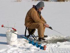 Go ice fishing