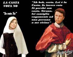 """I castaioli del No organizzati contro Renzi Che vinca il sì o che vinca il no, secondo me vince la democrazia, vince l'Italia. Spero che sia una bella festa e vadano a votare in tanti"""". Se tutto questo lo hai fatto per dimostrare che vince la #referendumcostituzionale #renzi"""