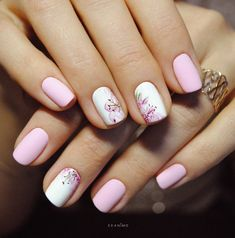 Having short nails is extremely practical. The problem is so many nail art and manicure designs that you'll find online Fabulous Nails, Gorgeous Nails, Trendy Nails, Cute Nails, Short Nails Art, Manicure E Pedicure, Nail Spa, Flower Nails, Spring Nails