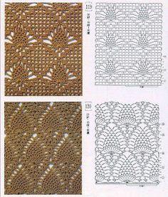2 more crochet charts -  SOLO PUNTOS: Crochet puntos calados