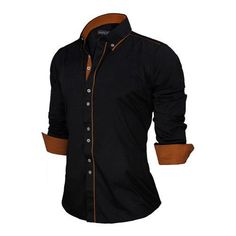 Shirts Europe Size New Arrivals Slim Fit Male Shirt Solid Long Sleeve British Style Cotton Men's Shirt Cotton Shirts For Men, Casual Shirts For Men, Men Casual, Men Shirts, White Shirt Men, Denim Shirt Men, Long Sleeve Cotton Dress, Long Sleeve Shirts, Spring Shirts