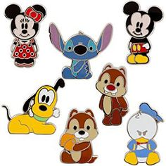 Mickey Mouse Mini Pin Set - Cute Characters