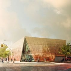 Queens To Replace Library That Served As Emergency Center During Hurricane:  rendering of the new library design. Image courtesy of Snohetta and Queens Public Library