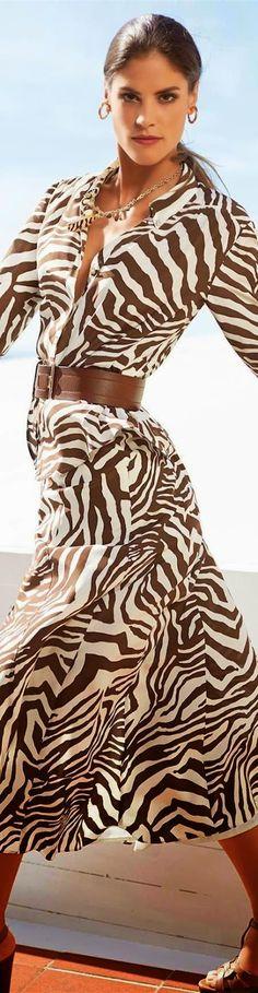 Madeleine Zebra Silk Skirt 2015