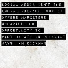 Social Media Quote - Unparalleled Opportunity #quote #SocialMedia #GetUSocial