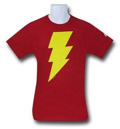 Images of Shazam Symbol Red T-Shirt