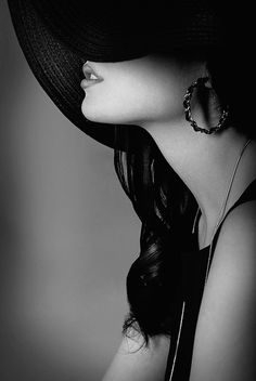a hint of mystery Female Portrait, Monochrome, Portrait Photography, Fashion Photography, Mysterious, Love Hat, Black N White, Mistress, Essie