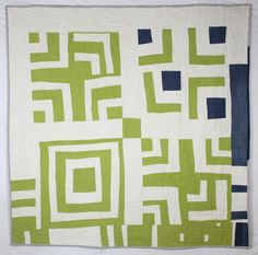 Linen and Denim Split Log Cabin Quilt Front | Flickr - Photo Sharing!