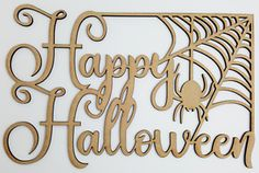 1 x wooden shape, is. Any laser processing marks can be removed by a light sanding or simply painting over. Halloween Spider, Happy Halloween, Harvest Crafts, Shape Crafts, Wooden Shapes, Leaf Shapes, Fall Harvest, Star Shape, Wooden Doors