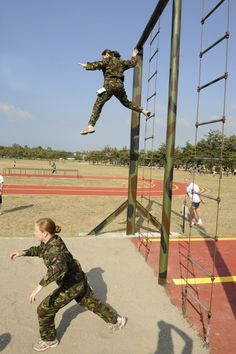 Military Obstacle Course   ... 07 2008 international military members tackle the land obstacle course