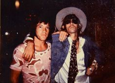 Keith posing with a fan during the Australian Tour, 1973