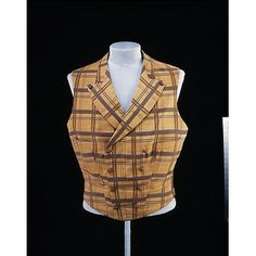 Waistcoat 1860, British, Made of silk and wool