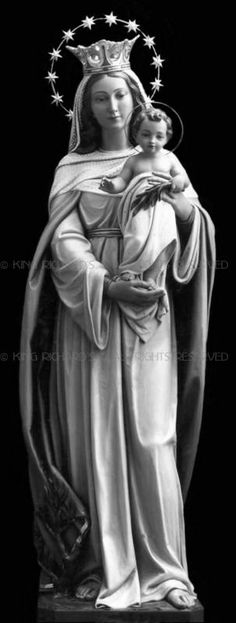 Mary---Mother-of-God - Hand Carved Wood Or Marble Mary-Mother Of God
