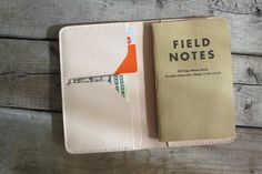 Personalized Veg-tanned Leather Field notes Cover, Moleskine, Hand Stitching, Leather Notes Cover on Etsy, $65.00