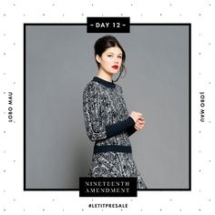 Day 12: A must-have this season is a drop waist sweater dress. This Lobo Mau one could be yours