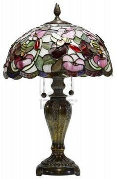 Tiffany Glass Table Lamp With Bumble Bee Accents Royalty Free Stock Photo, Pictures, Images And Stock Photography. Image 980365.