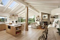 Las Canoas Remodel Grand Room contemporary kitchen