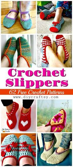 Crochet Slippers Pattern- 62 Free Crochet Patterns - DIY Crafts - The Crocheting Place Crochet Boots, Knit Or Crochet, Cute Crochet, Crochet Crafts, Crochet Clothes, Diy Crafts, Slippers Crochet, Crochet Projects, Easy Crochet Stitches