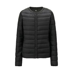 uniqlo women's ultra light down compact jacket in black (aw15 version with button closure)