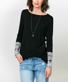 Look at this Sawyer Cove Black Aurora Tunic on #zulily today!