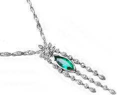 Contemporary emerald necklace modern designs