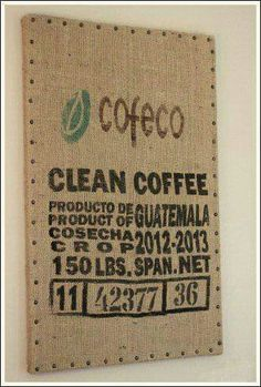 Coffee sack memo board
