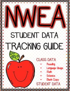 NWEA (Map) Test score tracking sheets for whole class or individual student report. I put these forms in a binder separated by subject area. Easy to document and track student growth across the year.