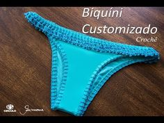 Calcinha de Biquíni Customizado em Crochê | Professora Simone - YouTube