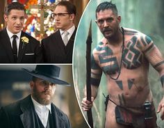 """1 of my favorite movies of Tom's- Legend & 2 of my favorite TV Shows of which 1 Tom's a recurring character in- Peaky Blinders & the other Tom was the Star, Executive Producer & Co-Creator of-Taboo, which is still """"TBD"""" if it was just a 1 time 8 episode """"tease"""" tv show or if BBC will pick it up & Season 2 & 3 can start rolling it out bcuz it left way too much unanswered. But I ❤ all 3 & found this cool pick all in one perfect """"My Favorite Flicks Pic""""."""