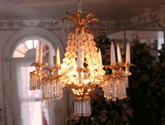 Pat's Miniatures Chandelier from class taught at CMS (hey that's us)