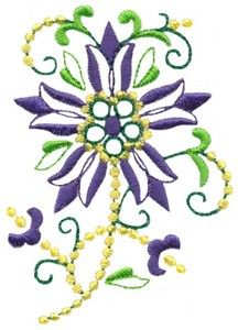 Columbine Flowers 1 (FW143) Embroidery Design by Stitchitize