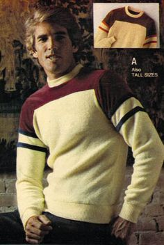 Men's Sweater from a 1980 catalog