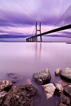 Vasco da Gama bridge by Jorge Maia.