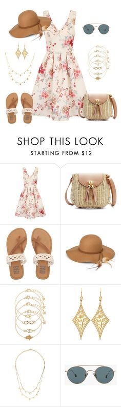 """""""Spring / Summer Dress - Flower Dress"""" by ginger-rogers ❤ liked on Polyvore featuring Chi Chi, Billabong, Steve Madden, Accessorize, Annie Fensterstock, Lana and Ahlem"""