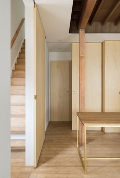 Leave is a minimalist house located in Hyogo, Japan, designed by Tsubasa Iwahashi Architects. The interior is characterized by natural materials and colors to promote a warm and welcoming atmosphere. (5)