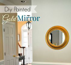 DIY Gold Round Mirror by Finding Fabulous!