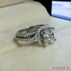 An engagement ring is a stunning token of love but it is the wedding band that crowns it with a life long promise.   Find the perfect set for you: ♥ #NatalieK exclusively at #Capri #Jewelers #Arizona ~ www.caprijewelersaz.com  ♥