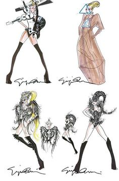 Lady Gaga's 'Born This Way Ball' Tour Outfits by Giorgio Armani