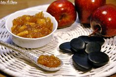 Apfel-Lakritz-Konfitüre Chutneys, Plum, Fish, Homemade, Canning, Meat, Fruit, Recipes, Yummy Yummy