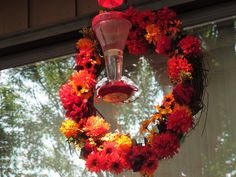 How To Make A Hummingbird Feeder Wreath