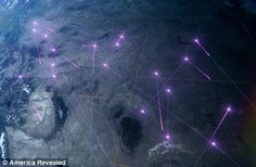 Tracking: The route of a family-run combine harvesting business as they zig zag across the U.S.    Read more: http://www.dailymail.co.uk/news/article-2161488/Secret-corpse-flights-pizza-boy-delivery-routes-daily-commute-Stunning-aerial-images-reveal-seen-America.html#ixzz1yHPrk5qG