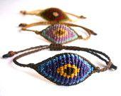 Macrame eye bracelet/Surf bracelet/Evil eye bracelet/Ματάκια μακραμέ/Friendship bracelet/Macrame jewelry/Micromacrame