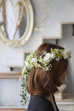 2011.7.11 実がいっぱいの白い花冠とリストレットと 花嫁さま : Ro:zic die floristin