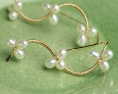 Amatista y aguamarina cuelga de oro llena de por fussjewelry