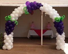 Holly communion balloon arch