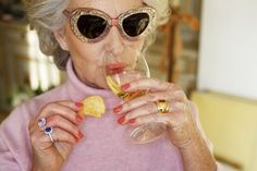 Martin Parr, granny FABulous 80-year-old woman