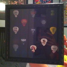 Guitar pick display case